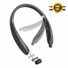 Wireless Bluetooth 4.1 Headset, Retractable and Foldable Neckband Style Headphones