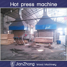 single sides melamine laminating hot press 4 X 8 Feet