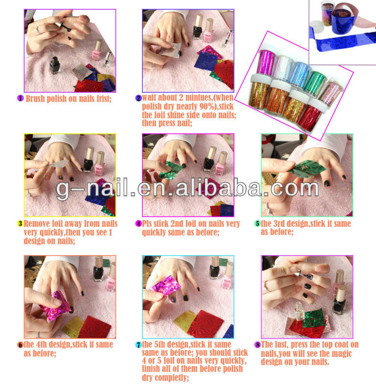 2013 Hot Sell nail decoration; www.auparisnailart.com; Professional Nail Beauty,Nail Foil