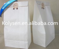 Kolysen white greaseproof Paper Bag for food packing