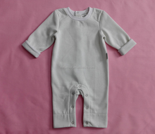 2016 hot sale winter long sleeve long pants baby romper