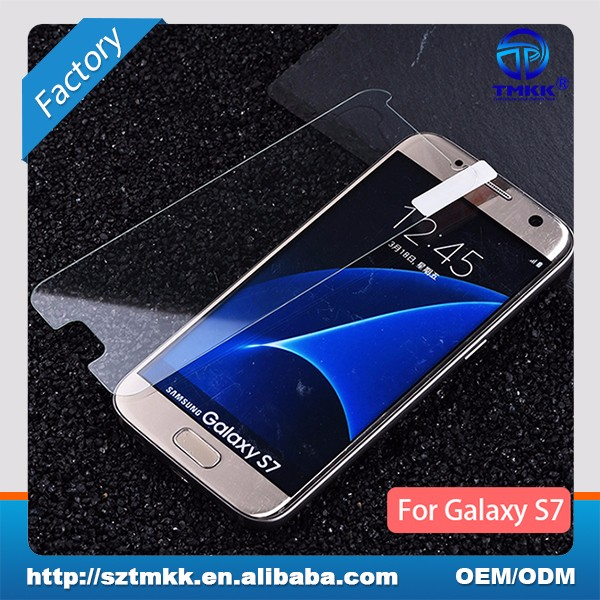 Transparent screen protector For Samsung Galaxy S7 tempered glass manufacturer