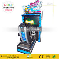NQR-C10 Christmas indoor arcade driving game for adults coin operated racing game machine for children free download
