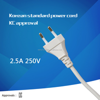 korea 2 pin power plug KC approval power cord for home appliances/laptop