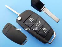 Sales Promotion 3 buttons A6L flip remote key shell remote key cases blank