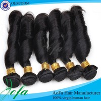 Brazilian shedding free human curly weave spring curl hair braid