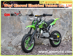 QWMOTO CE certification 2 stroke 49cc mini moto pocket bike 49cc dirt bike 49cc mini chopper
