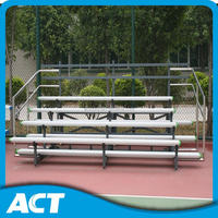 4 row stand seats All sport movable aluminum bleachers for sale