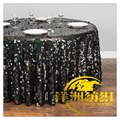 2017 NEW FASHION fancy black Sequin tablecloth