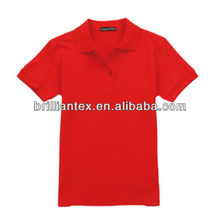Cheap Advertising Colourful Polyester Cotton Blend Red Men Polo T Shirt
