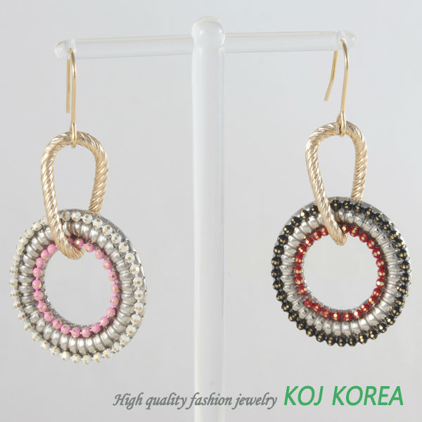 KE-145 colorful circle pierce
