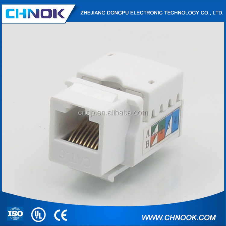 UL approved CAT5E /CAT6 network 8p8c rj45 keystone connector 90 degree