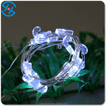 usb rechageable silver wire walking stick shaped led string lights