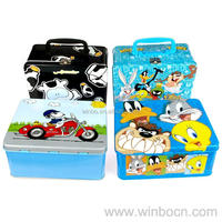 Rectangular Tin food container for kids