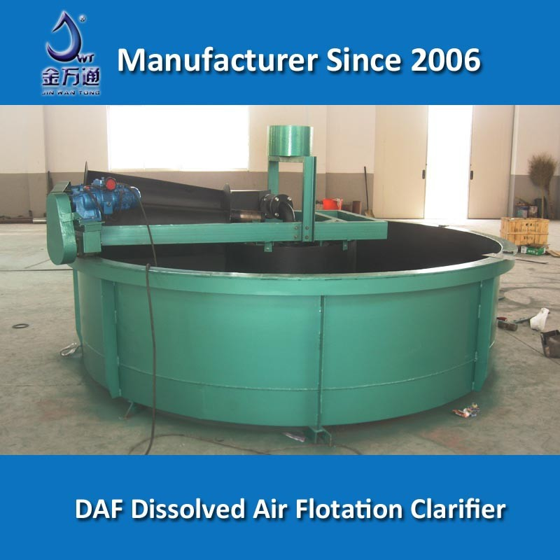 Dissolved air flotation clarifier for dyeing wastewater treatment