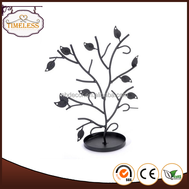 Metal tree design wire jewelry display stand, jewelry stand