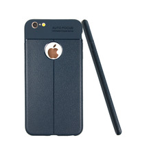 Newest Lichi Style Mobile Phone Leather Soft Silicon Phone Case for Apple iPhone 6 6S