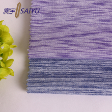 hot new products space dye three thread fleece fabric textile