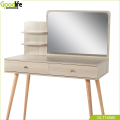 Goodlife wooden dressing table with solid wood stand,White Oak