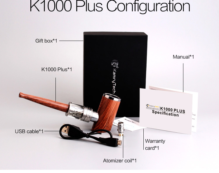 Wholesale private label metal K1000 Plus cheap smoking wood tobacco pipe