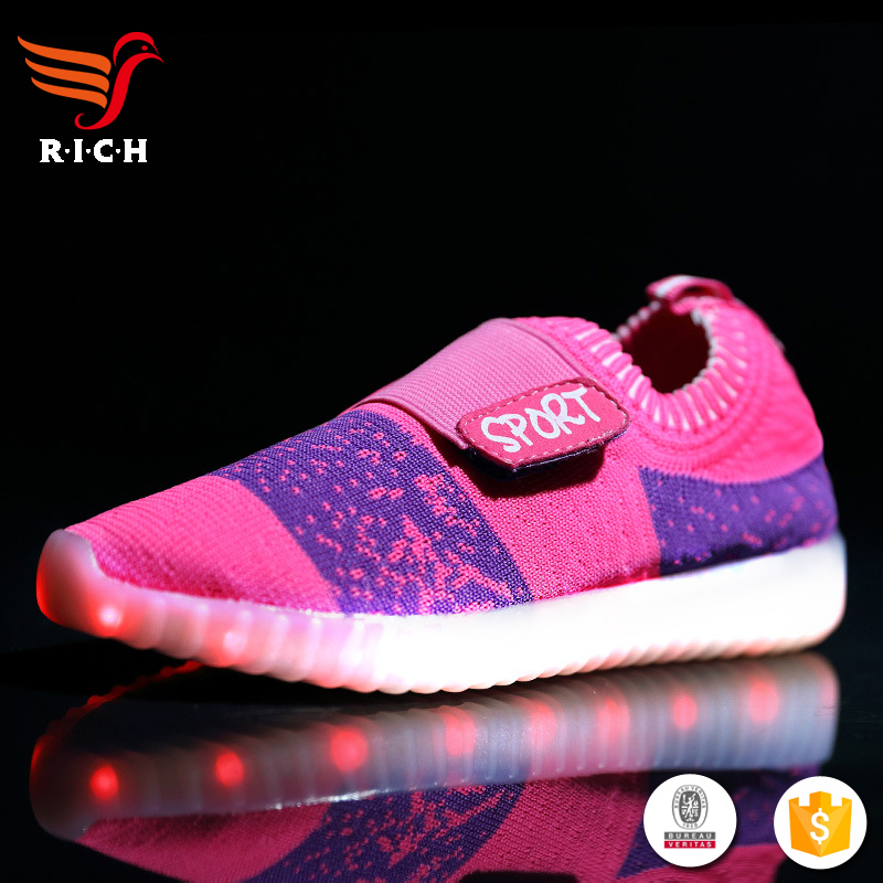 HFR-TS49178 2017 latest flat for high heel sneakers led shoes women