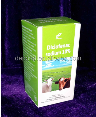 large animals antifever medicine 10% diclofenac sodium injection with GMP