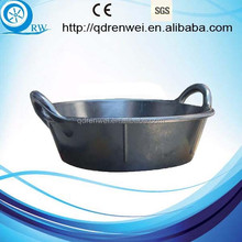 Round Rubber Feed Tub Rubber water Bucket with handles