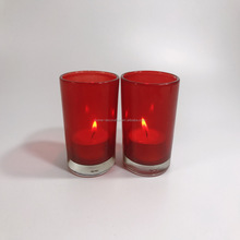 wholesale red glass hurricane votive candle holders cheap made in China