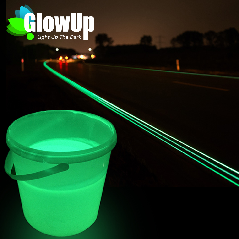 Free Sample Glow In The Dark Luminescent Pigment Road Marking Paint Glow Photoluminescent Exit Signs Coating Luminescent Paint