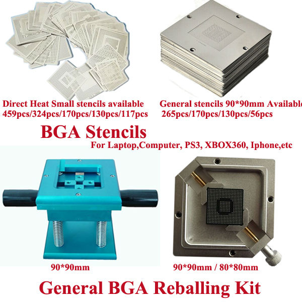 bga repairing station BGA reballing kit stencils BGA solder ball and Solder paste, bga reballing accessories,solder flux