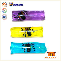 New water games, black spider print water snake toy, water wiggler toy