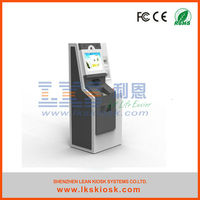 LKS kiosk vending machine credit card with A4 printer