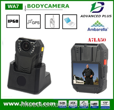 Latest Pre-recording waterproof 128GB 3G/4G/GPS WiFi HD Pro Mini HD Camcorder with 12 hours recording police body worn camera