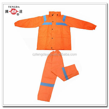 construction polyurethane silnylon rainsuit with silicone coating