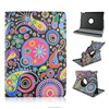 Hot Sales Seabed Flowers Pattern Rotatable Folio Stand Leather Case For iPad Air 2 with Elastic Belt