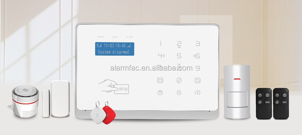 Smart Android/IOS APP control home <strong>alarm</strong> system WIFI+GSM home burglar <strong>alarm</strong> system support multi-language wireless <strong>alarm</strong>