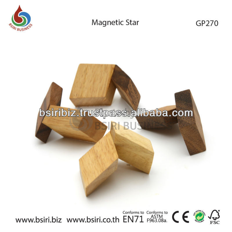 wooden puzzles and brain teasers Magnetic Star