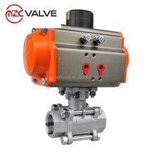 Pneumatic Ball Valve Full Port three piece female ball valve