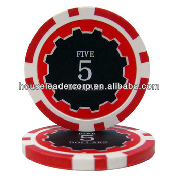 11.5g Eclipse custom made poker chips / poker chip with custom made sticker labels