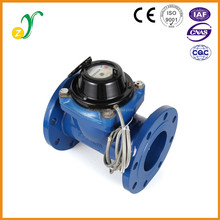 Ningbo digital remote reading collect with computer mechanical brass water meter wifi