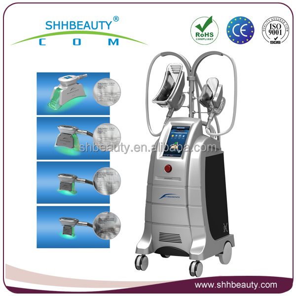Fast and safe body slimming cryolipolysis machine with 4 handles for different body parts