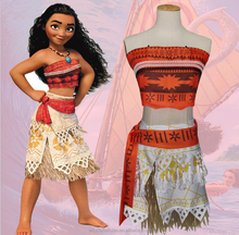 Wholesale Movie Halloween Party Cosplay Moana Princess Costumes