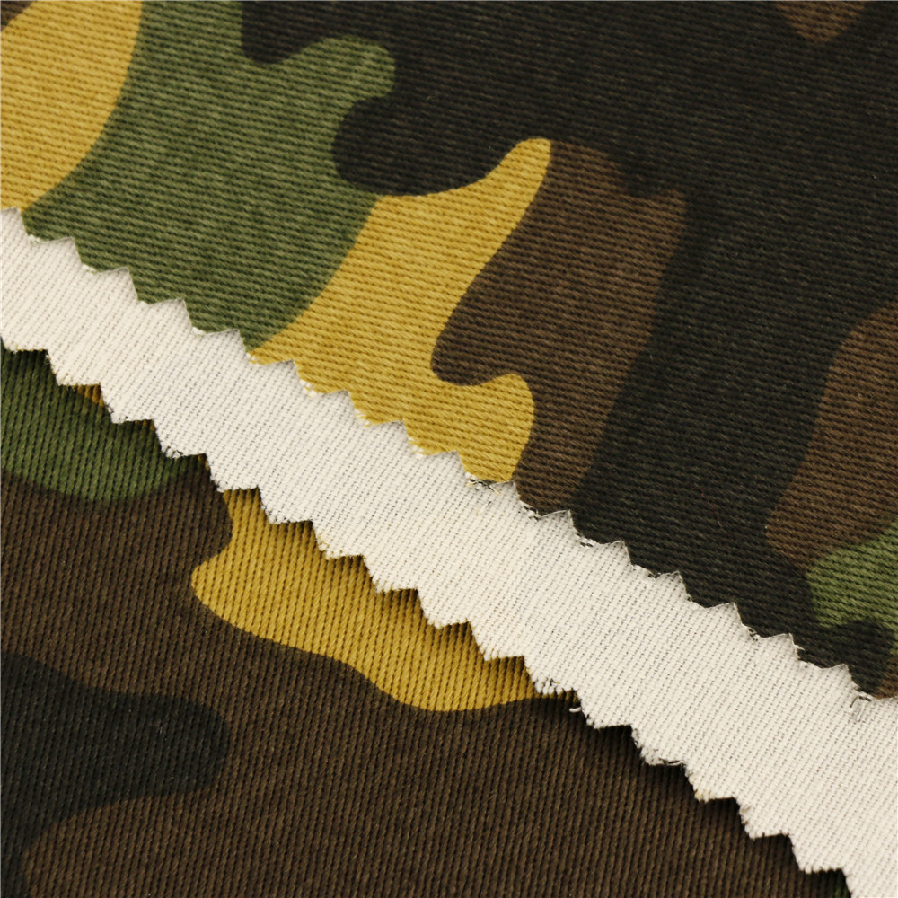 146Cm 20X16+70D/156X48 254Gsm 100% cotton strech twill Cotton Military Army Printed Camo Fabric With Camouflage Printing