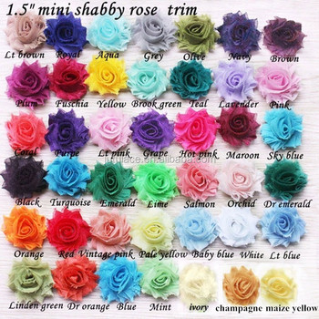 1.5'' shabby chiffon flowers rosette trim flower hair accessories handwear