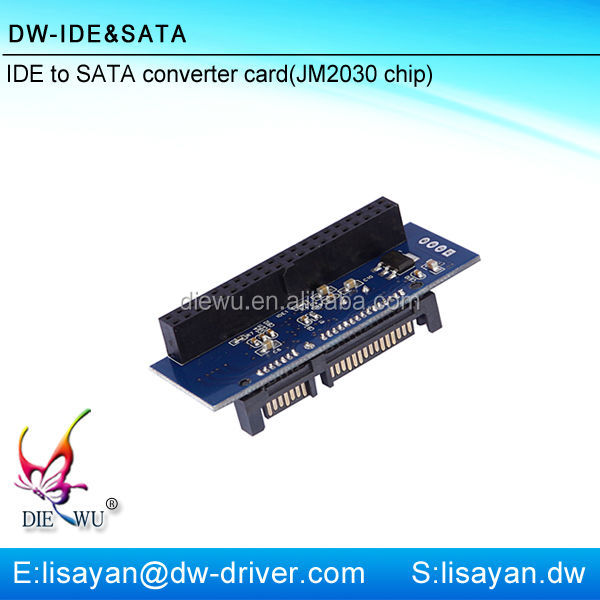 High quality computer IDE to SATA adapter card with 4P power interface