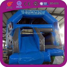 2014 most popular inflatable Frozen bounce house with slide