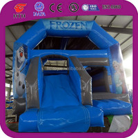 En14960 certified inflatable frozen bounce house with slide for sale