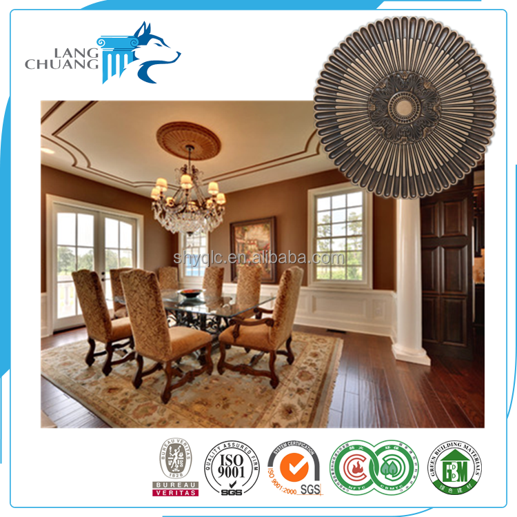 High-end House Decorative Components PU Material Ceiling Medallion