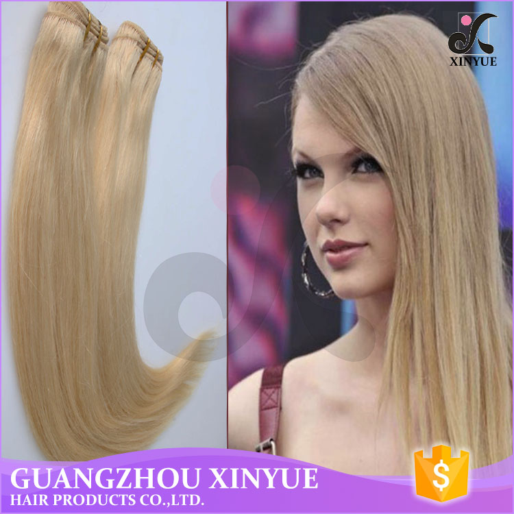 Highest Quality 100% Virgin Indian Hair Extensions Blonde Hair 613 Straight Hair