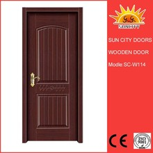 Luxury interior door melamine wooden door skin SC-W114